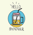 emblem fresh beverage to vacation activity vector image vector image