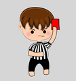 football referee with red card vector image