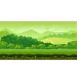 forest and hills game background 2d application vector image vector image