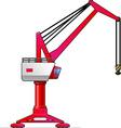 gantry crane vector image