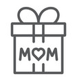 gift for mom line icon present and holiday mom vector image vector image