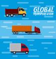 global transportation concept vector image