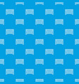 goal football pattern seamless blue vector image vector image