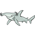 hammerhead shark cartoon vector image vector image