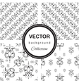 Hand drawn flower seamless pattern collection vector image vector image