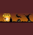 happy halloween banner design vector image vector image