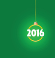 happy new year 2016 color ball vector image vector image