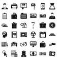 lending icons set simple style vector image vector image