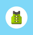 life vest icon sign symbol vector image