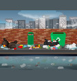 litter in the urban landscape vector image vector image
