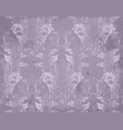 luxury baroque pattern in violet color vector image