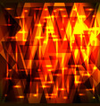 luxury golden red pattern of shards and triangles vector image vector image