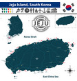 map of jeju island south korea vector image vector image