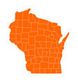 map of wisconsin vector image vector image