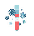 medical test tube containing blood that tested vector image