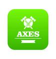 military axe icon green vector image vector image