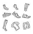 orienteering sport equipment vector image vector image