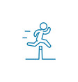 overcoming obstacles linear icon concept vector image vector image