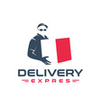 package courier logo design vector image