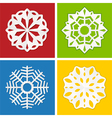 paper snowflake set vector image vector image