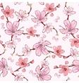 Pink Cherry Sakura Flowers Seamless Pattern vector image