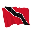 political waving flag of trinidad vector image vector image