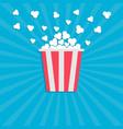 popcorn popping cinema movie icon in flat design vector image vector image
