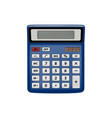 realistic calculator isolated on white background vector image vector image
