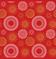 red gold firework explosion seamless pattern vector image