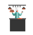 restaurant staff cartoon character vector image vector image