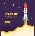 rocket new start up take off vector image vector image