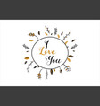 romantic lettering card elegand and glitter vector image vector image