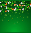 Saint patricks day border with green four and
