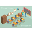School classroom education isometric concept vector image vector image