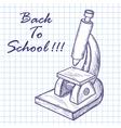 School microscope vector image vector image