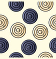 seamles pattern with circles in retro colors vector image vector image