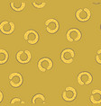 seamless pattern with bagels vector image