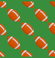 seamless pattern with rugby ball vector image vector image