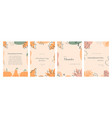set happy thanksgiving invitation cards vector image vector image
