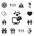 set of 12 editable passion icons includes symbols vector image vector image