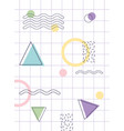 shapes geometric texture memphis 80s 90s style vector image vector image