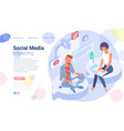 social media networking people vector image vector image