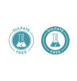 sulfate free icon chemical test tube seal sulfate vector image vector image