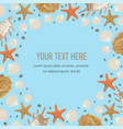 summer marine square template banner vector image vector image