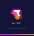 t-monogram-logo vector image vector image
