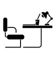 table office sideview icon vector image vector image