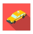 Taxi car icon in flat style isolated on white vector image vector image