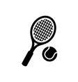 tennis racket and ball icon on white vector image