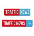 Traffic News button vector image vector image