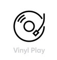 vinyl record play icon vector image